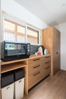 キッチン背面カウンター