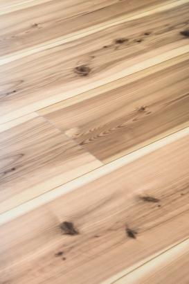 ご主人が選んだペット対応型の木質フローリング