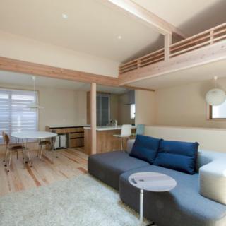 トップライトと高窓のあるパッシブデザインの木の家 注文住宅 広島市 西区