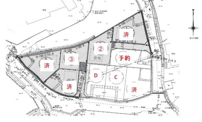 全9区画の街並みです。 現在4区画販売中。 アストラムライン長楽寺駅徒歩4分 生活に便利なおすすめのエリアです。