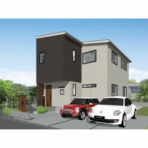 好評分譲中のクレストタウン神山3区画の①号地にモデルハウスを建設中です。2021年6月末完成予定!!