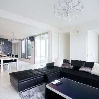 優雅で洗練された空間 モダンゴージャスなガレージハウス