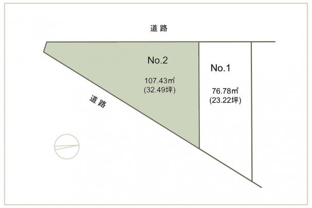 【東原1丁目No.2】区画図