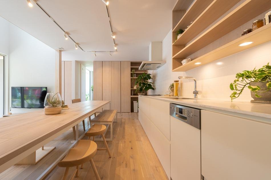 ◎大きなキッチンや大きな収納で家事を楽しく
